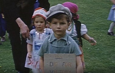 Film still from Salute the Soldier Week